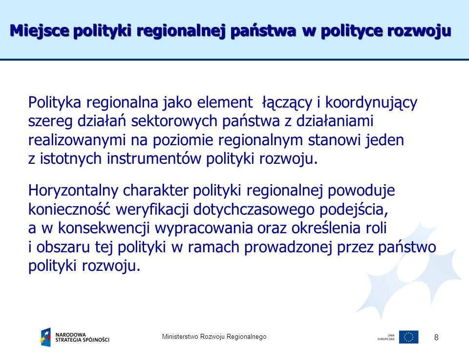 Miejsce polityki regionalnej państwa w polityce rozwoju