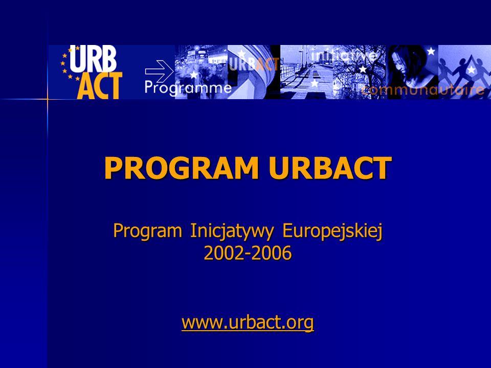 PROGRAM URBACT Program Inicjatywy Europejskiej 2002-2006 www. urbact