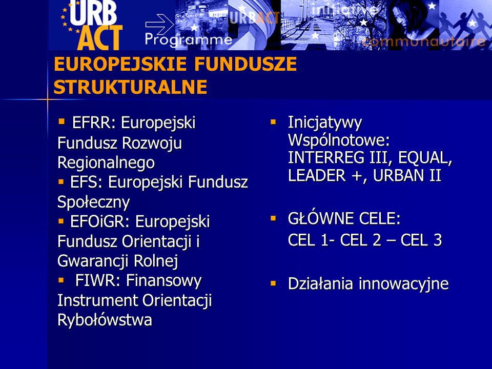 EUROPEJSKIE FUNDUSZE STRUKTURALNE