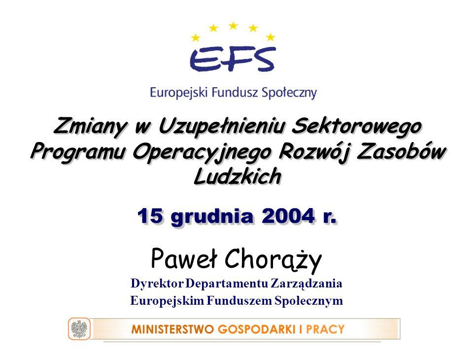 Dyrektor Departamentu Zarządzania Europejskim Funduszem Społecznym