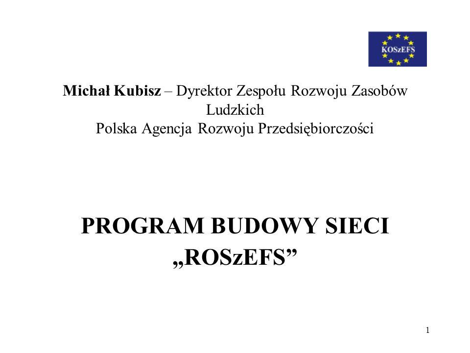 """PROGRAM BUDOWY SIECI """"ROSzEFS"""