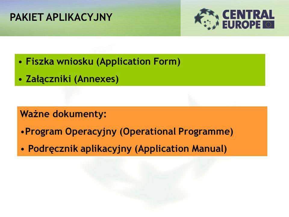 PAKIET APLIKACYJNY Fiszka wniosku (Application Form)