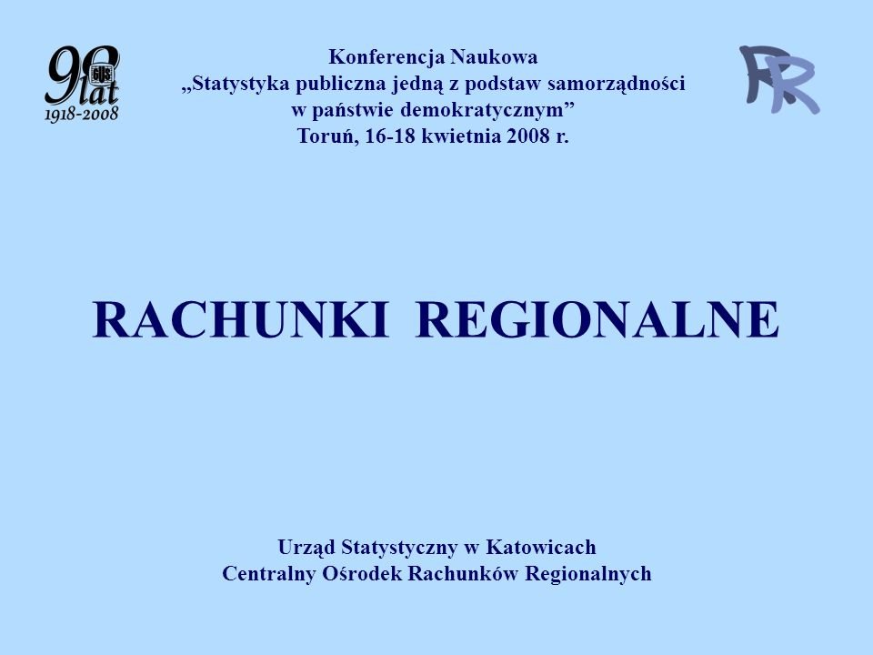 RACHUNKI REGIONALNE Konferencja Naukowa