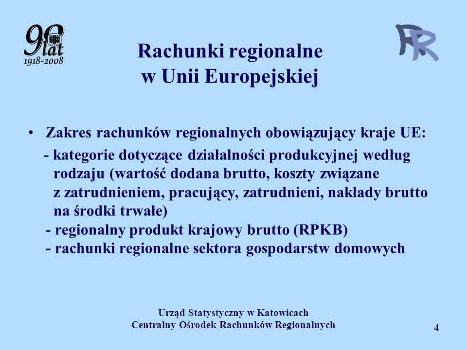 Rachunki regionalne w Unii Europejskiej