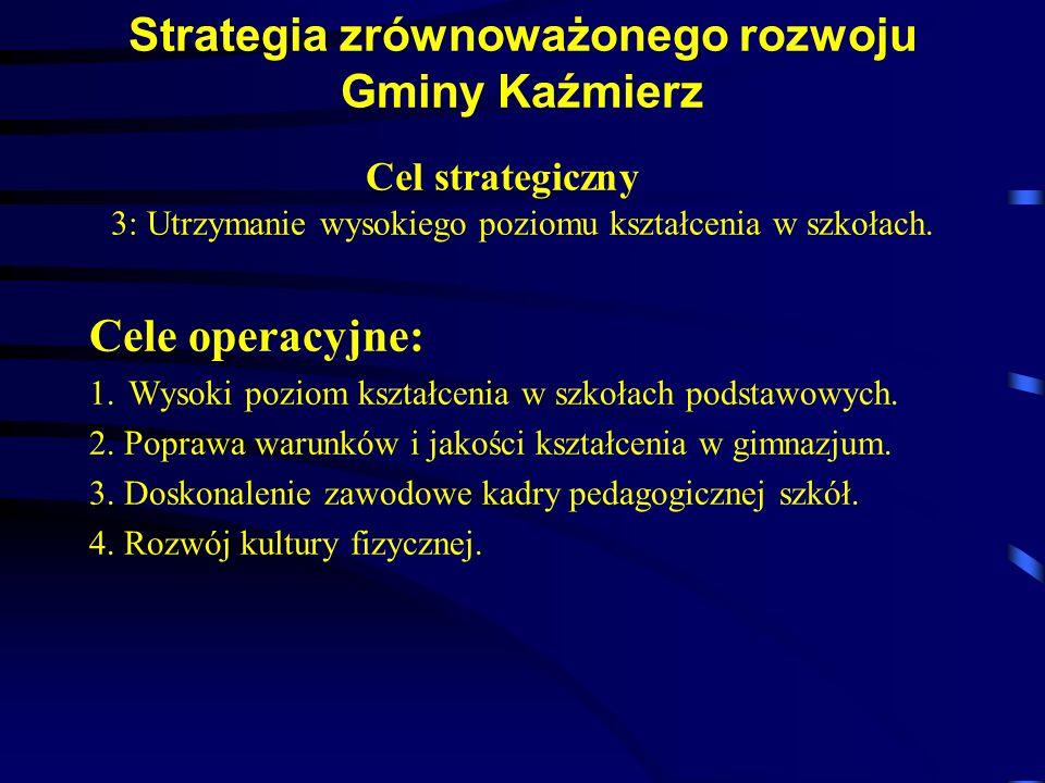 Strategia zrównoważonego rozwoju Gminy Kaźmierz Cel strategiczny