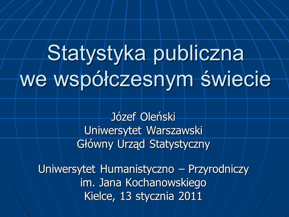 Statystyka publiczna we współczesnym świecie