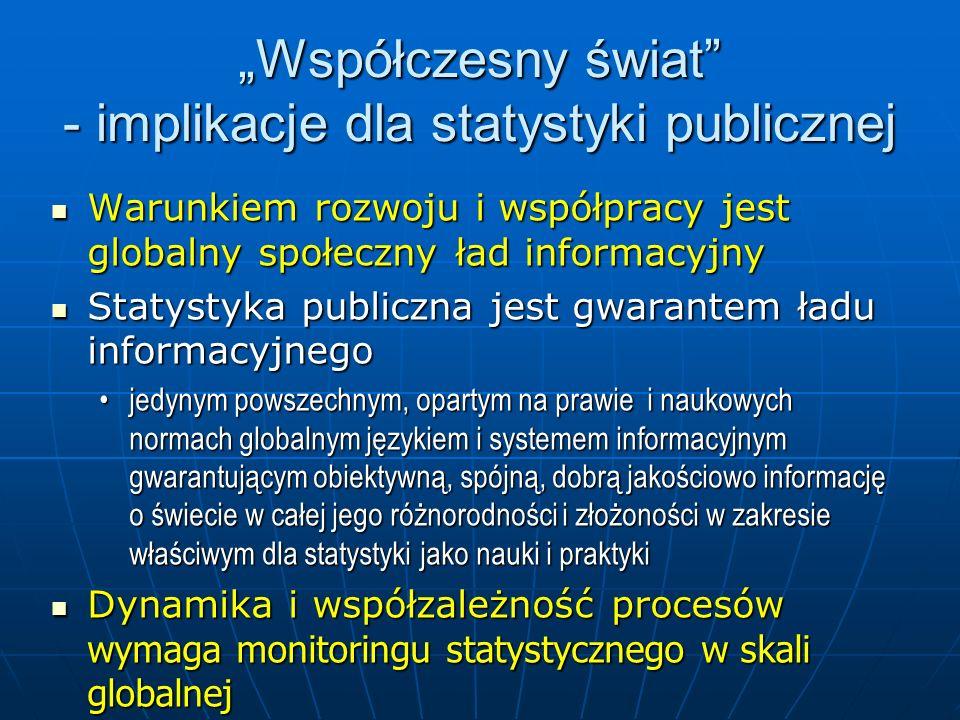 """""""Współczesny świat - implikacje dla statystyki publicznej"""
