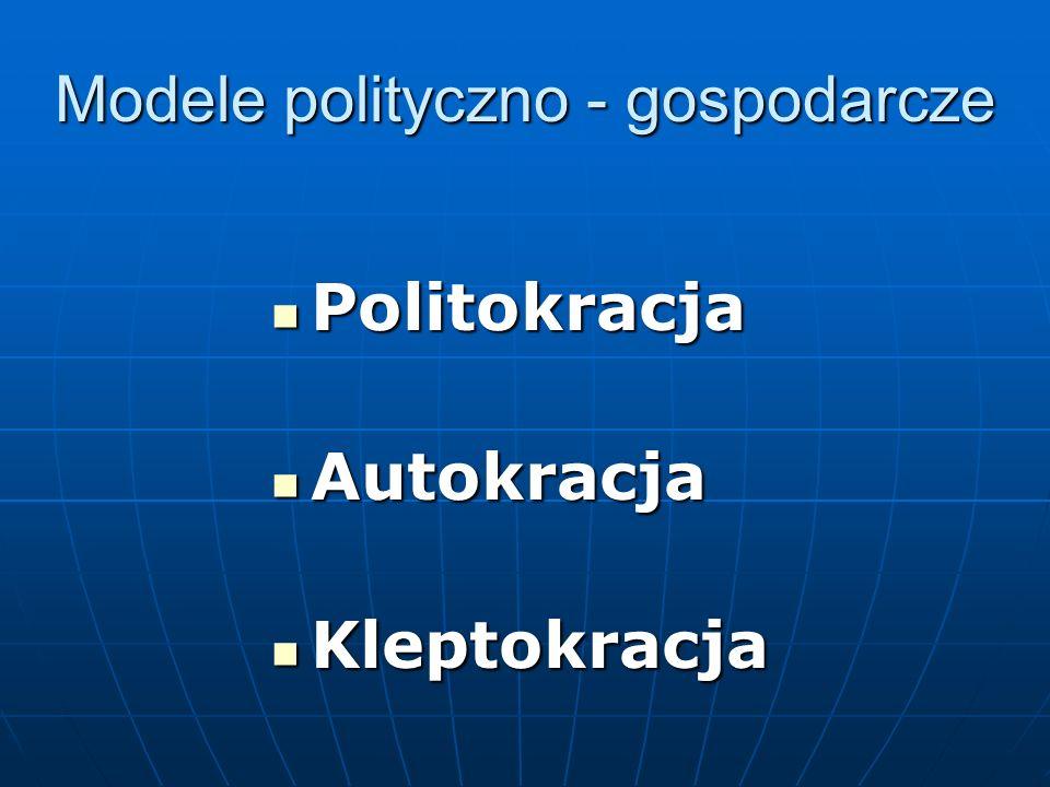 Modele polityczno - gospodarcze