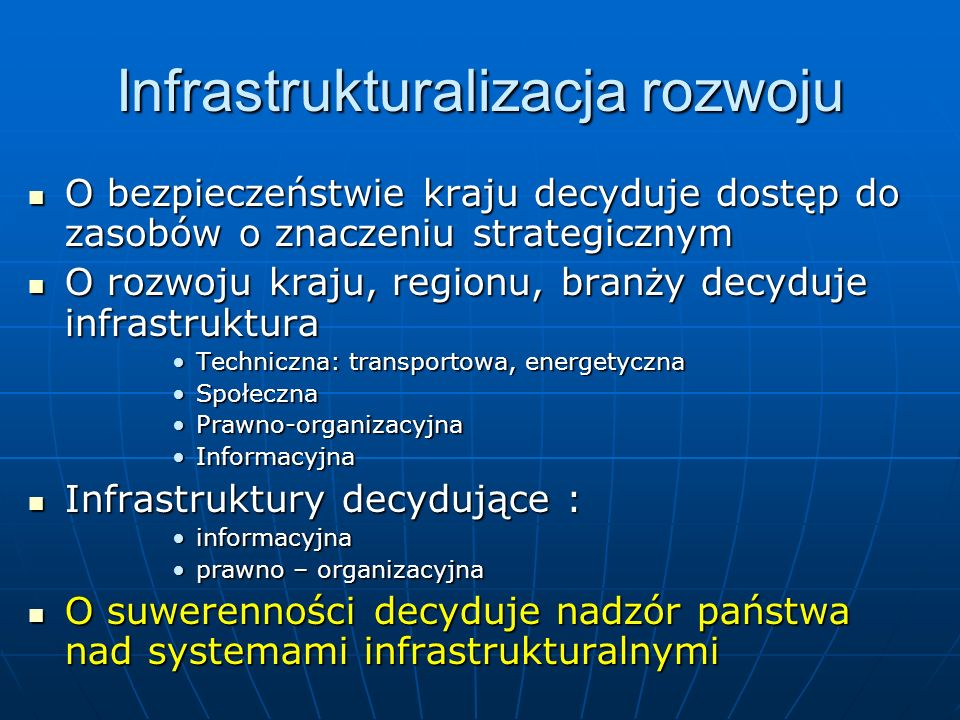 Infrastrukturalizacja rozwoju