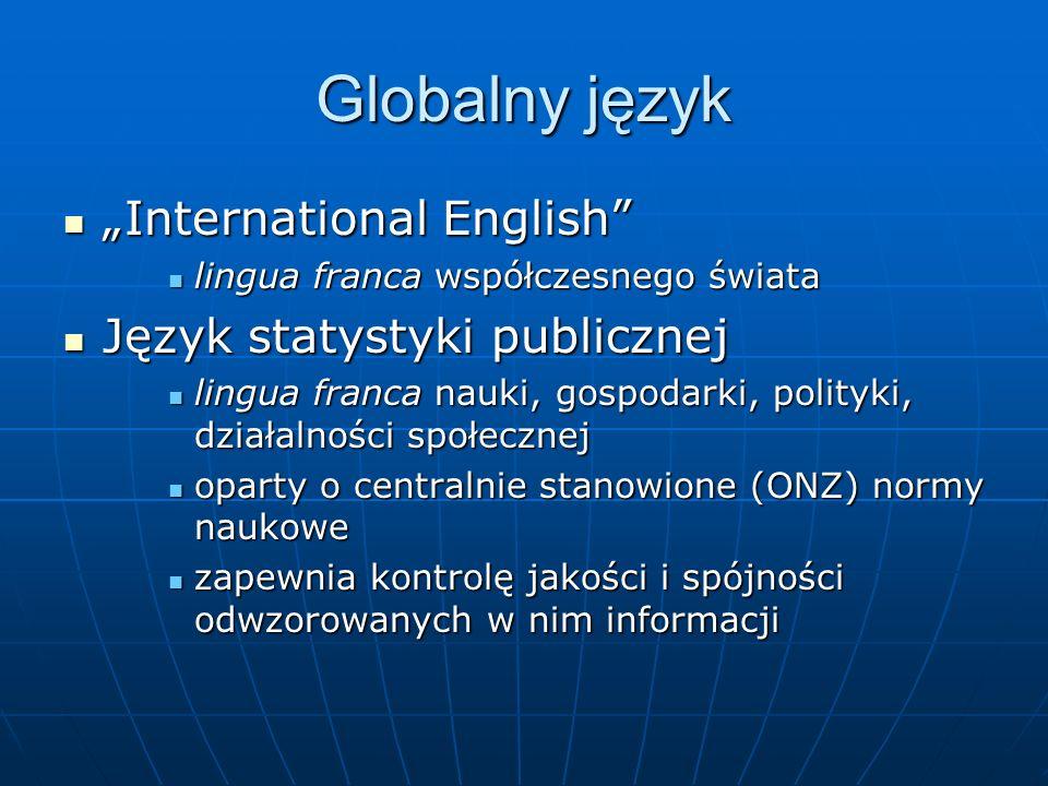 """Globalny język """"International English Język statystyki publicznej"""