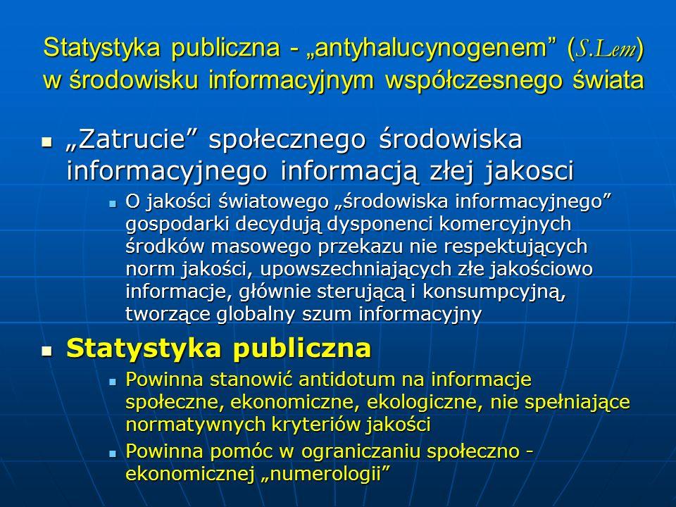 """Statystyka publiczna - """"antyhalucynogenem (S"""