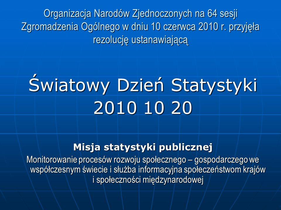 Misja statystyki publicznej