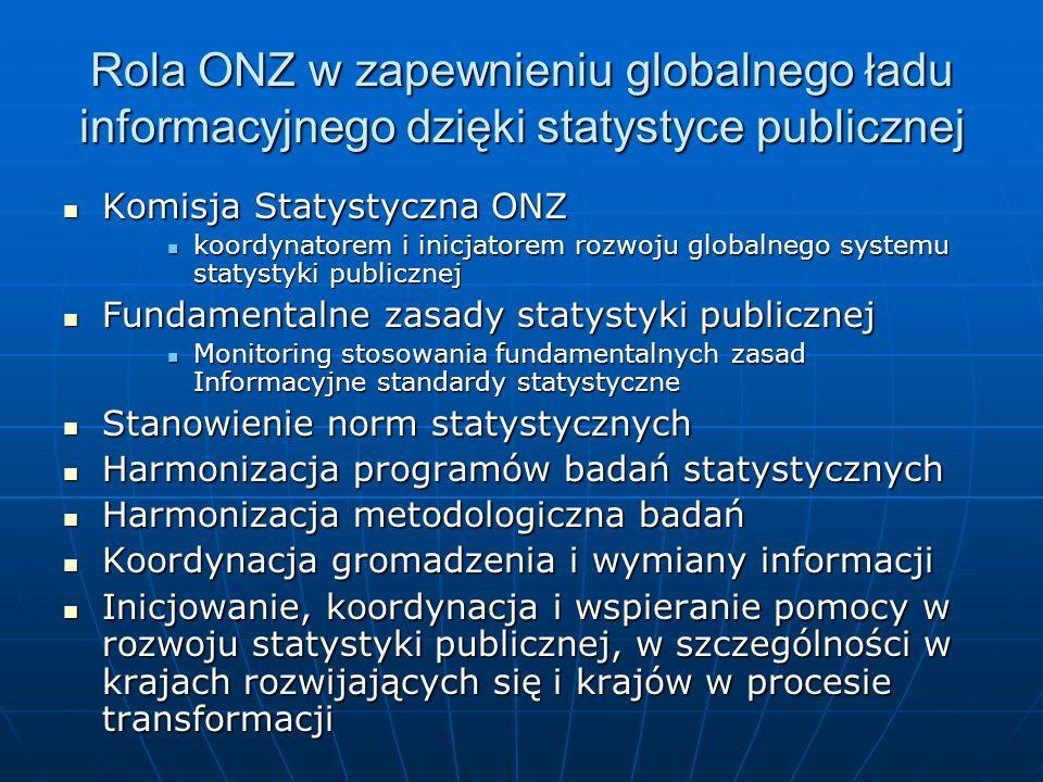 Rola ONZ w zapewnieniu globalnego ładu informacyjnego dzięki statystyce publicznej