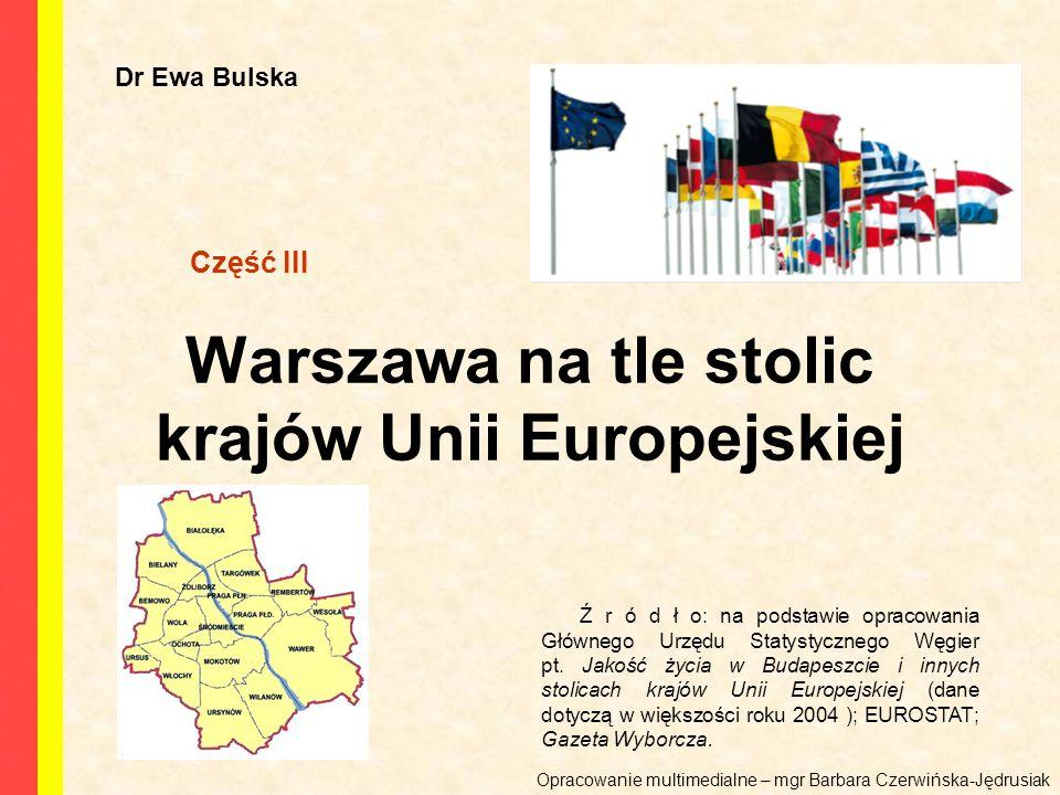 Warszawa na tle stolic krajów Unii Europejskiej