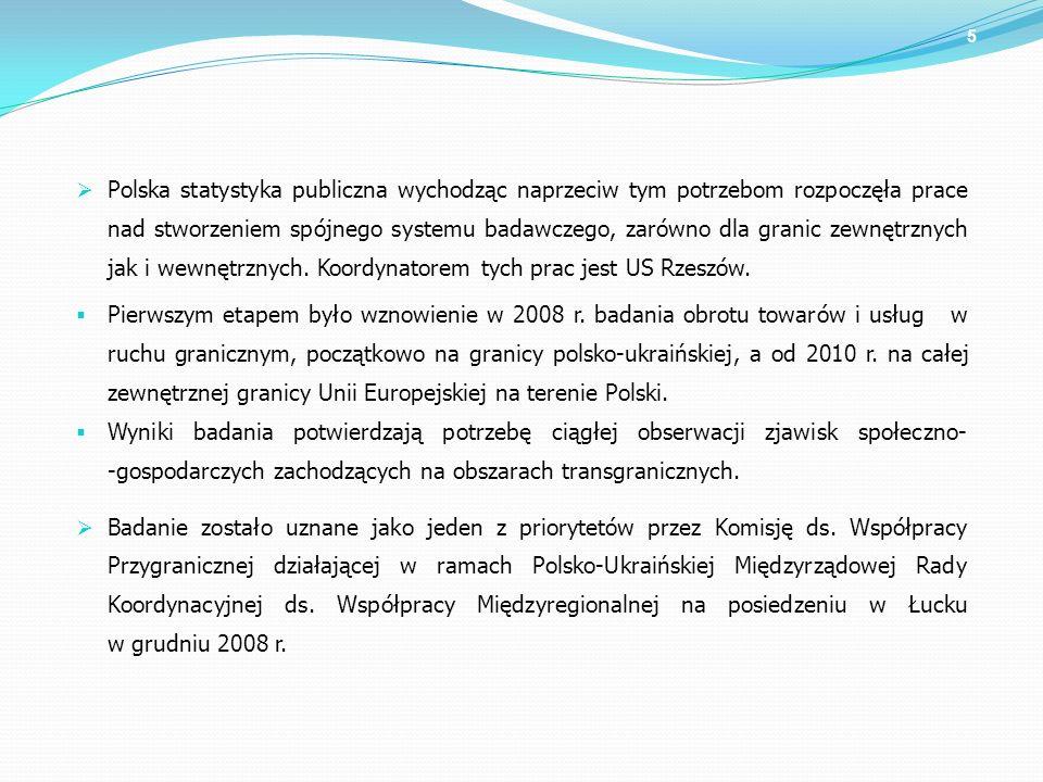 Polska statystyka publiczna wychodząc naprzeciw tym potrzebom rozpoczęła prace nad stworzeniem spójnego systemu badawczego, zarówno dla granic zewnętrznych jak i wewnętrznych. Koordynatorem tych prac jest US Rzeszów.