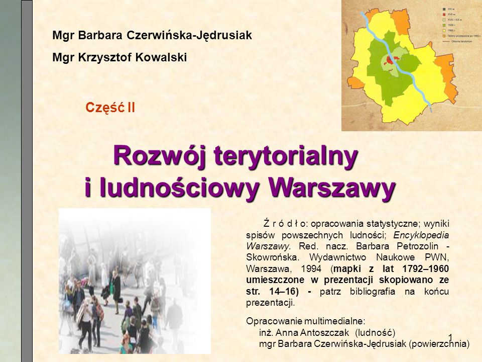 Rozwój terytorialny i ludnościowy Warszawy