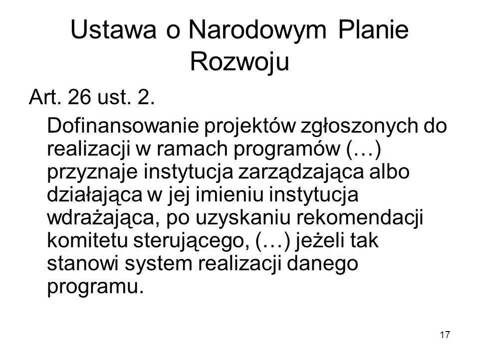 Ustawa o Narodowym Planie Rozwoju