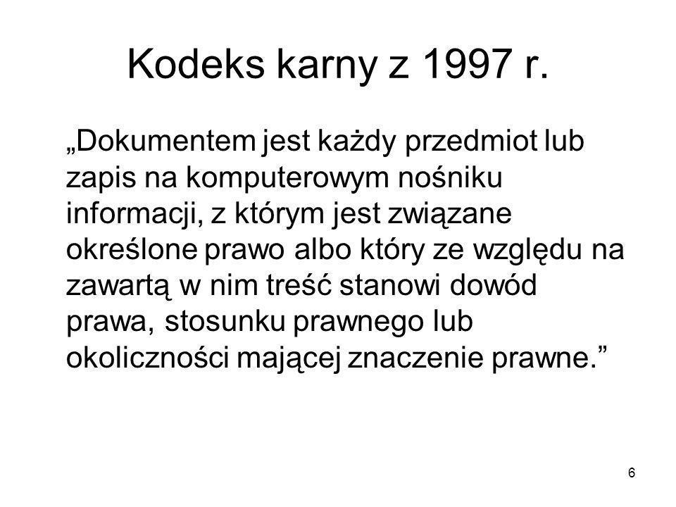 Kodeks karny z 1997 r.