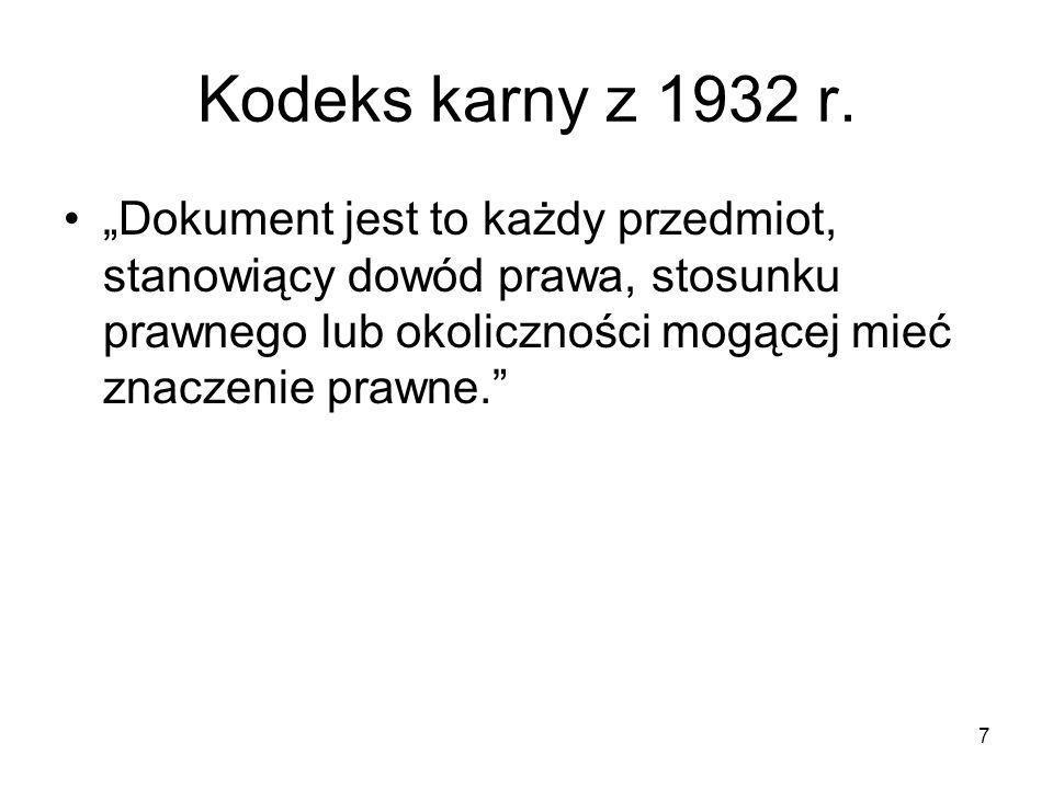 Kodeks karny z 1932 r.