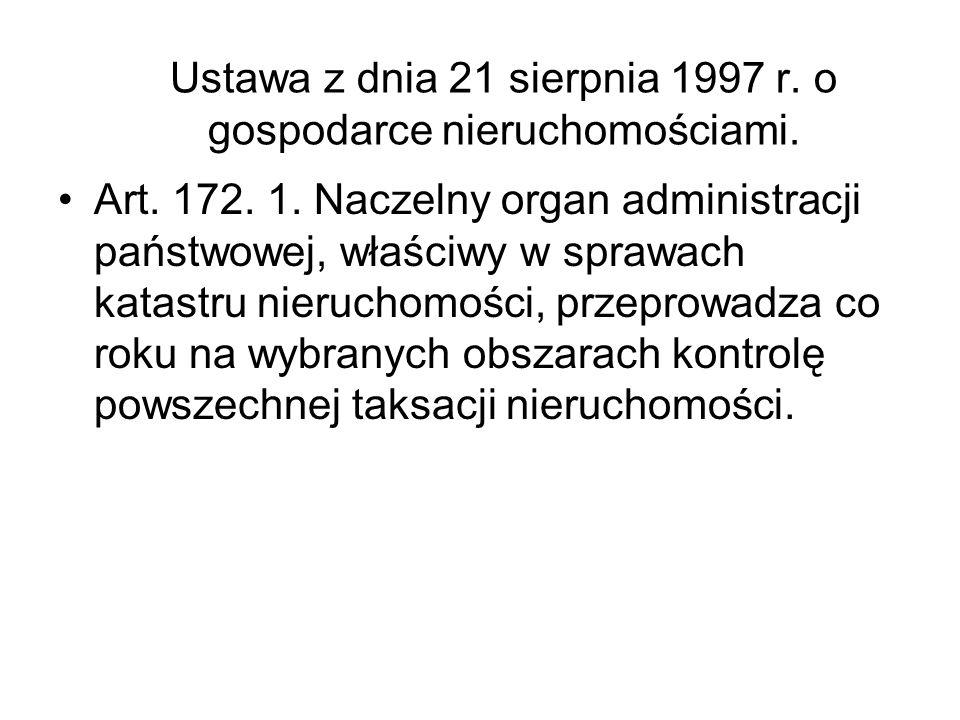 Ustawa z dnia 21 sierpnia 1997 r. o gospodarce nieruchomościami.