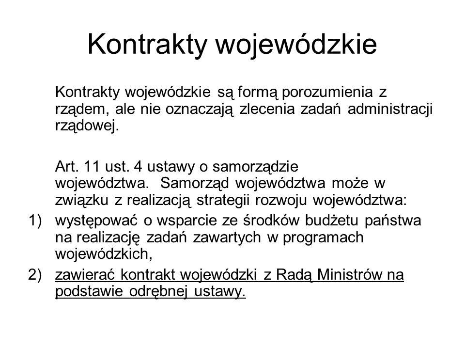 Kontrakty wojewódzkie