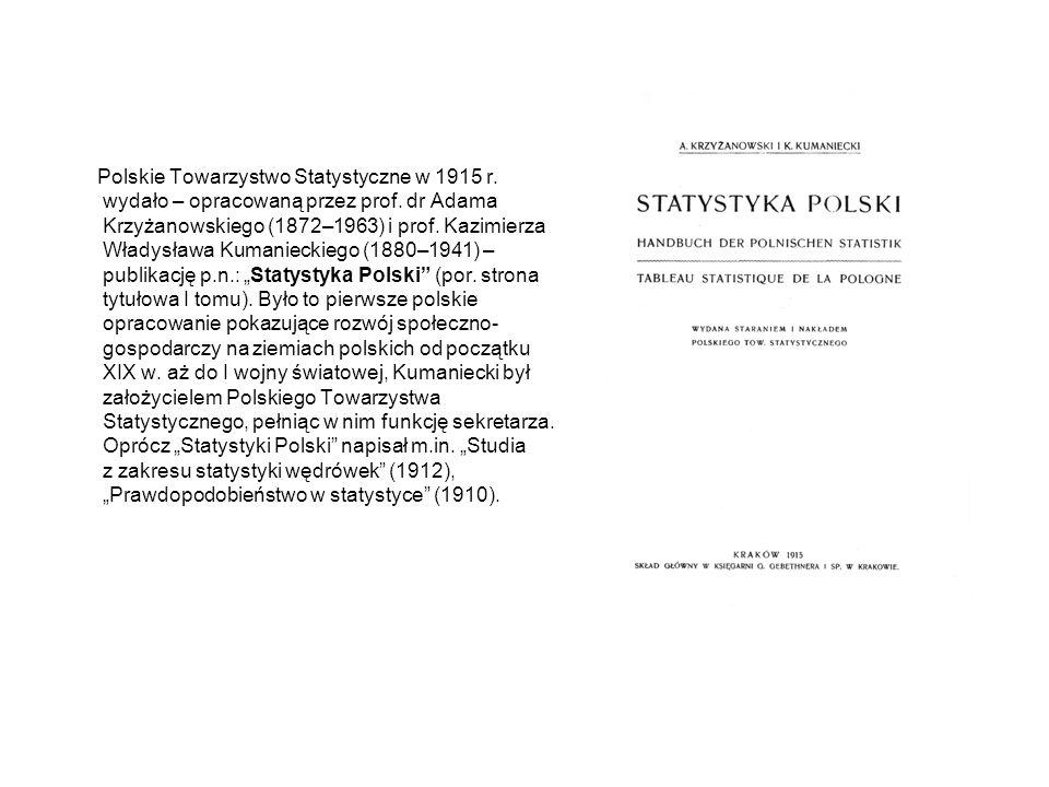 Polskie Towarzystwo Statystyczne w 1915 r
