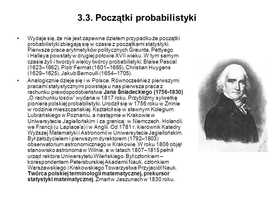 3.3. Początki probabilistyki