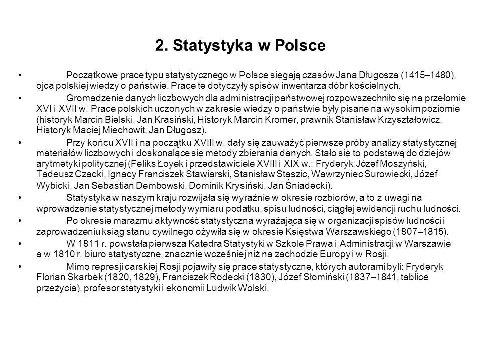 2. Statystyka w Polsce