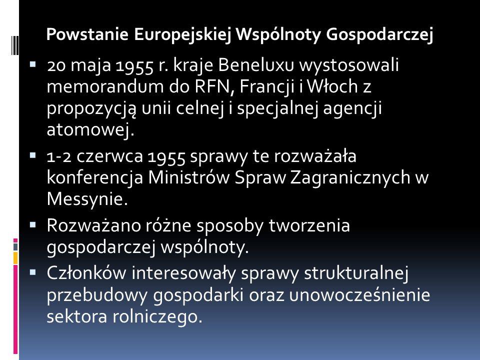 Powstanie Europejskiej Wspólnoty Gospodarczej