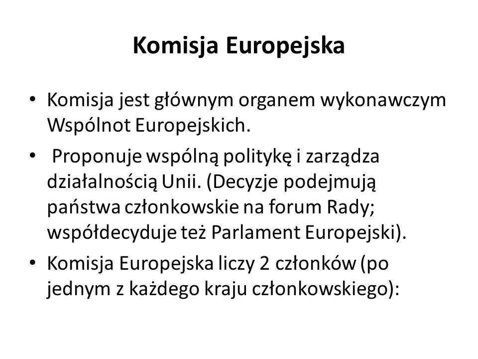 Komisja Europejska Komisja jest głównym organem wykonawczym Wspólnot Europejskich.