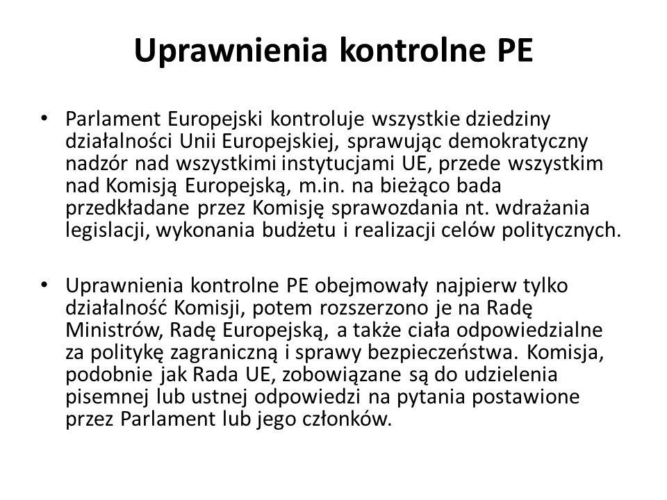 Uprawnienia kontrolne PE