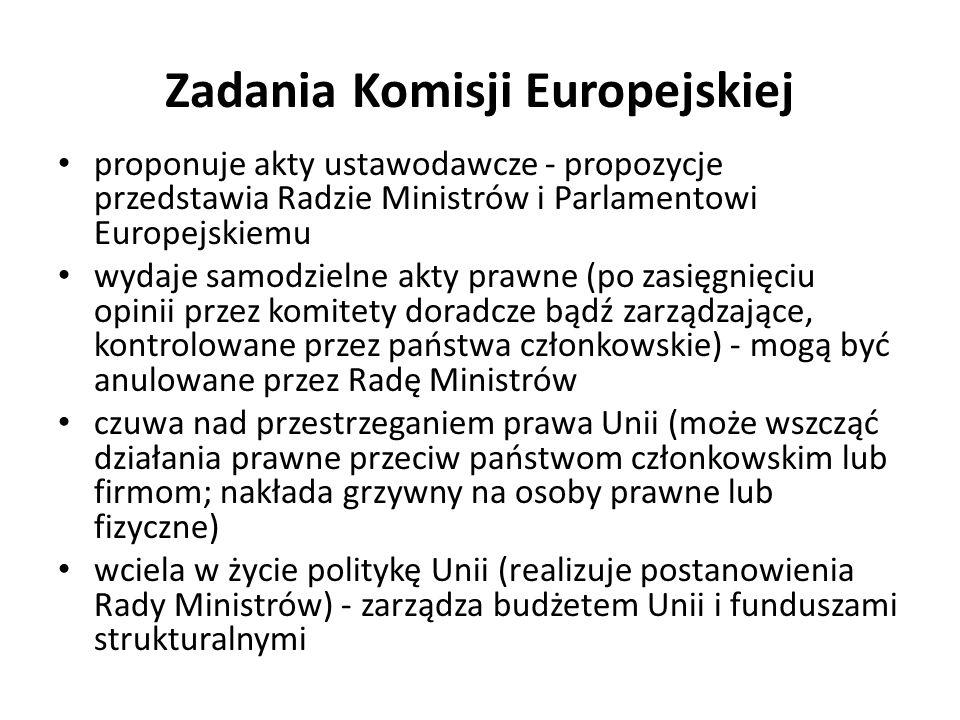 Zadania Komisji Europejskiej