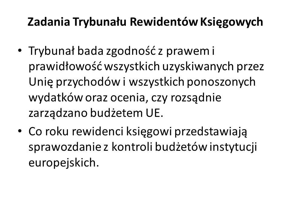 Zadania Trybunału Rewidentów Księgowych