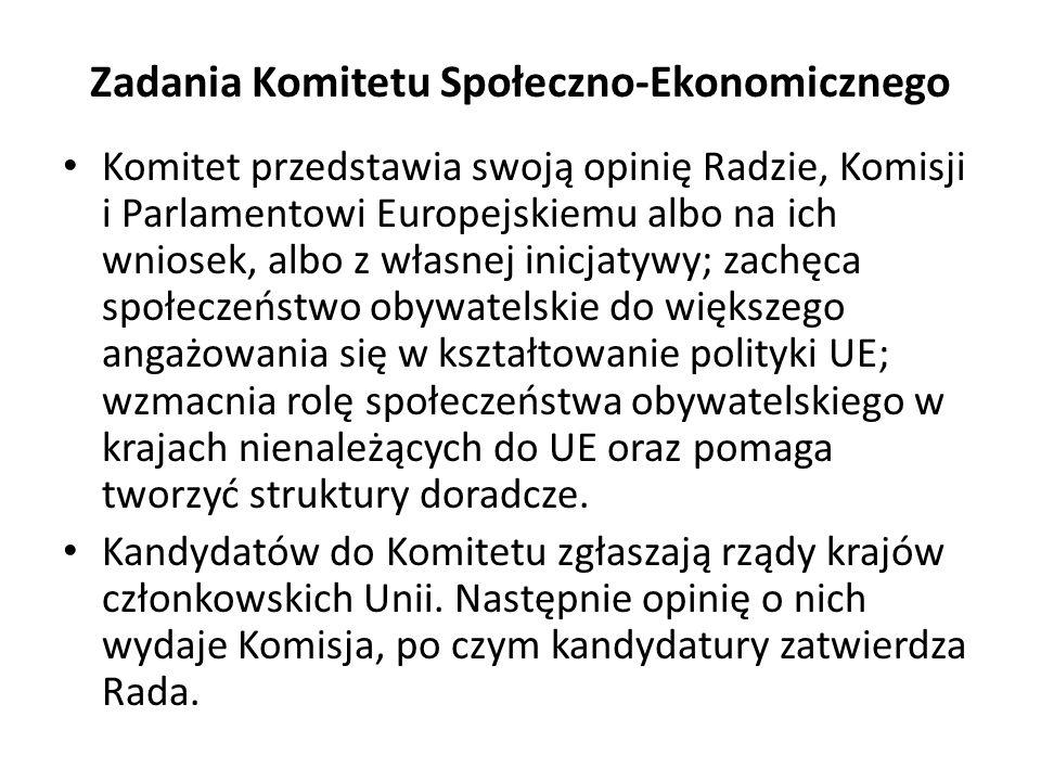 Zadania Komitetu Społeczno-Ekonomicznego