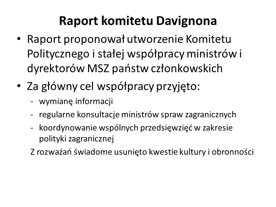 Raport komitetu Davignona