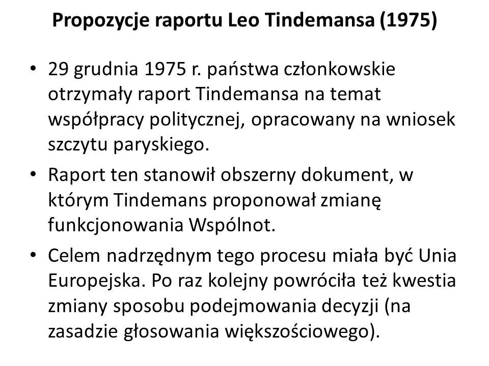 Propozycje raportu Leo Tindemansa (1975)