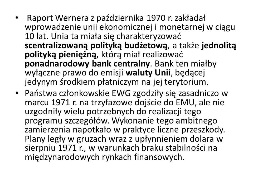Raport Wernera z października 1970 r