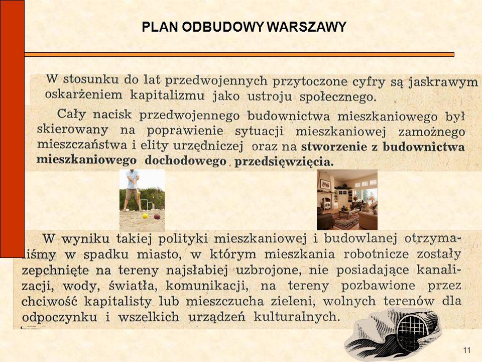 PLAN ODBUDOWY WARSZAWY
