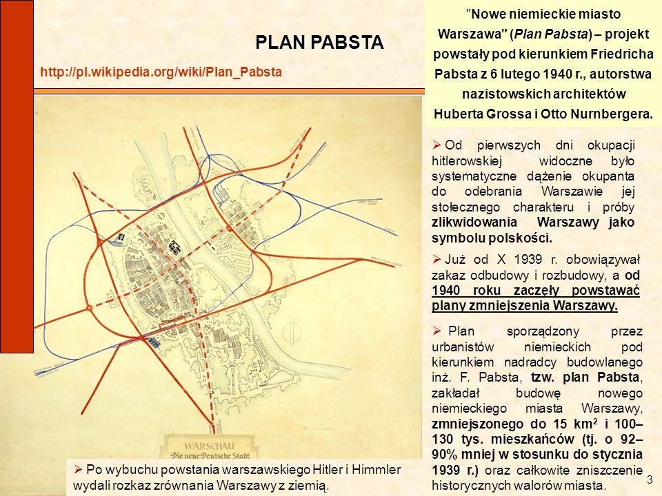 Nowe niemieckie miasto Warszawa (Plan Pabsta) – projekt powstały pod kierunkiem Friedricha Pabsta z 6 lutego 1940 r., autorstwa nazistowskich architektów Huberta Grossa i Otto Nurnbergera.