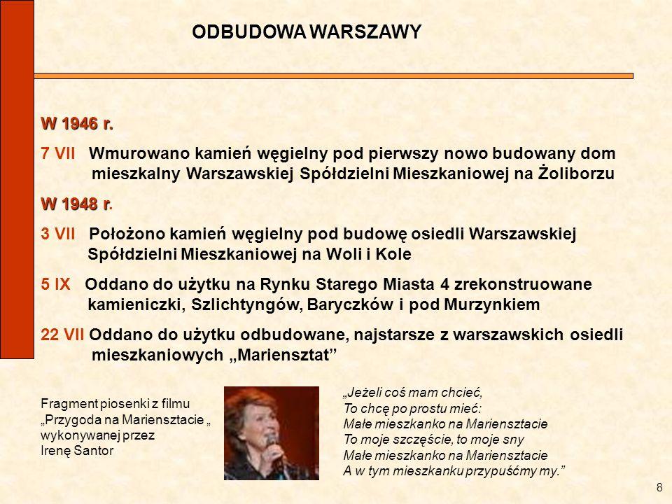 ODBUDOWA WARSZAWYW 1946 r.