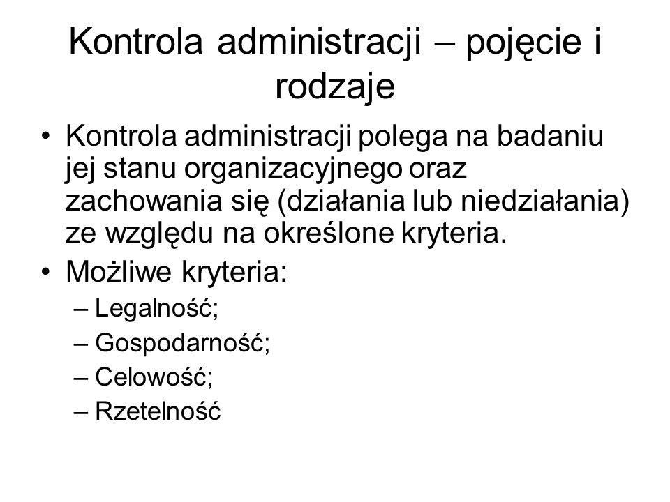 Kontrola administracji – pojęcie i rodzaje