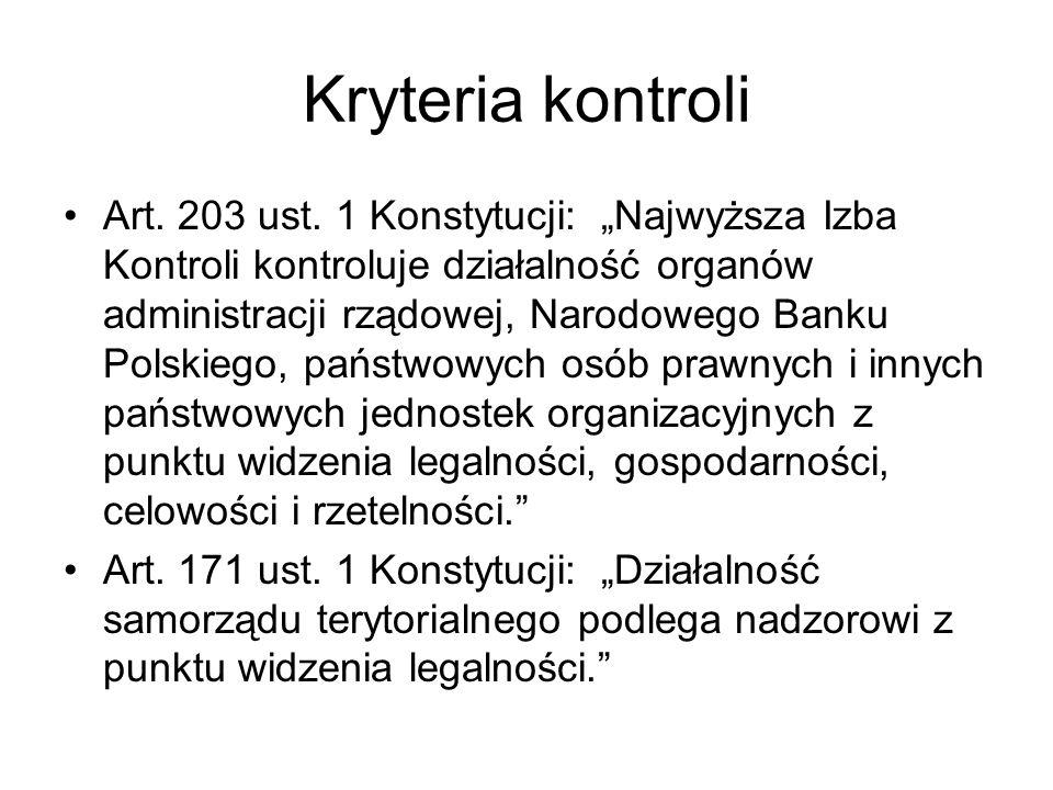 Kryteria kontroli