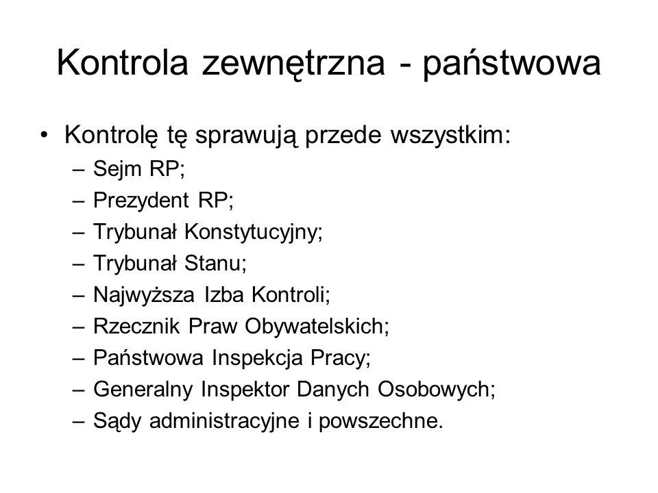 Kontrola zewnętrzna - państwowa