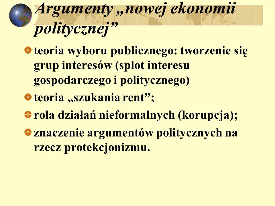 """Argumenty """"nowej ekonomii politycznej"""