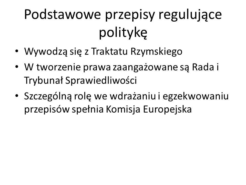 Podstawowe przepisy regulujące politykę