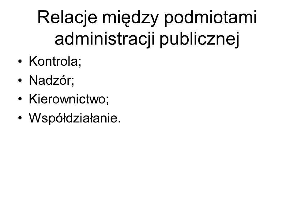 Relacje między podmiotami administracji publicznej