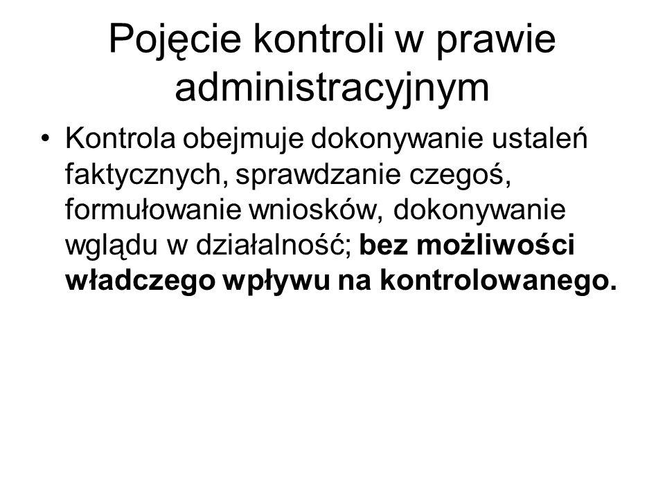 Pojęcie kontroli w prawie administracyjnym