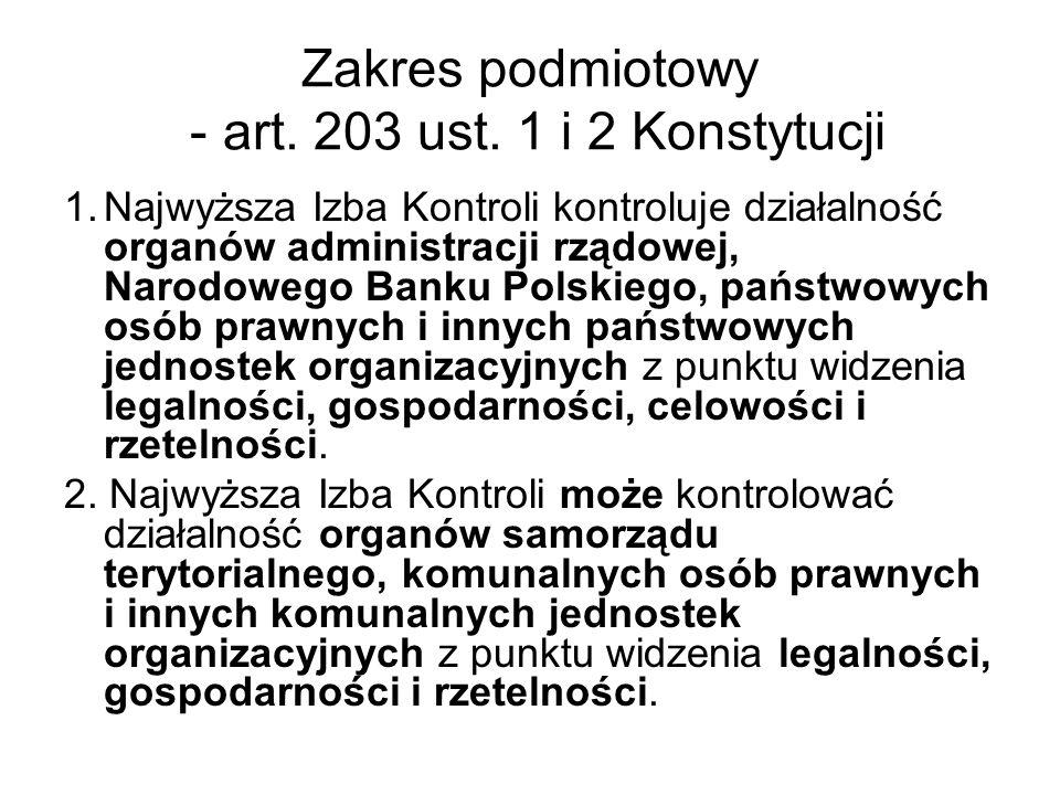 Zakres podmiotowy - art. 203 ust. 1 i 2 Konstytucji
