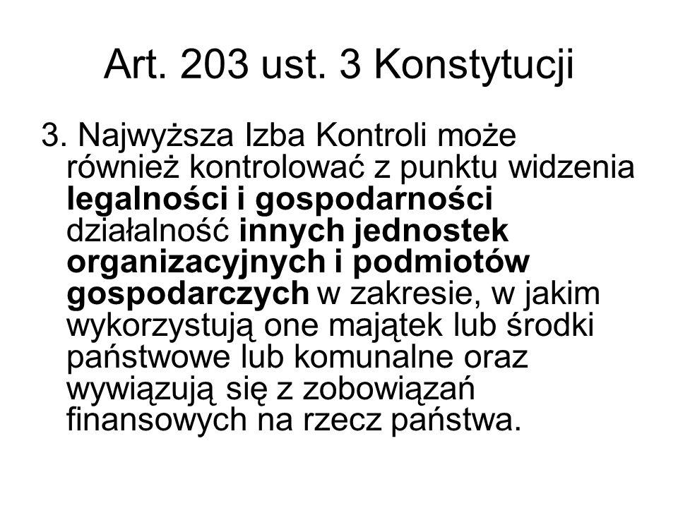 Art. 203 ust. 3 Konstytucji