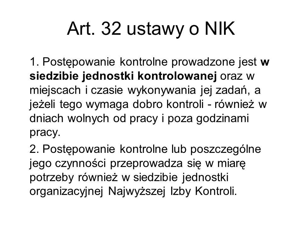 Art. 32 ustawy o NIK